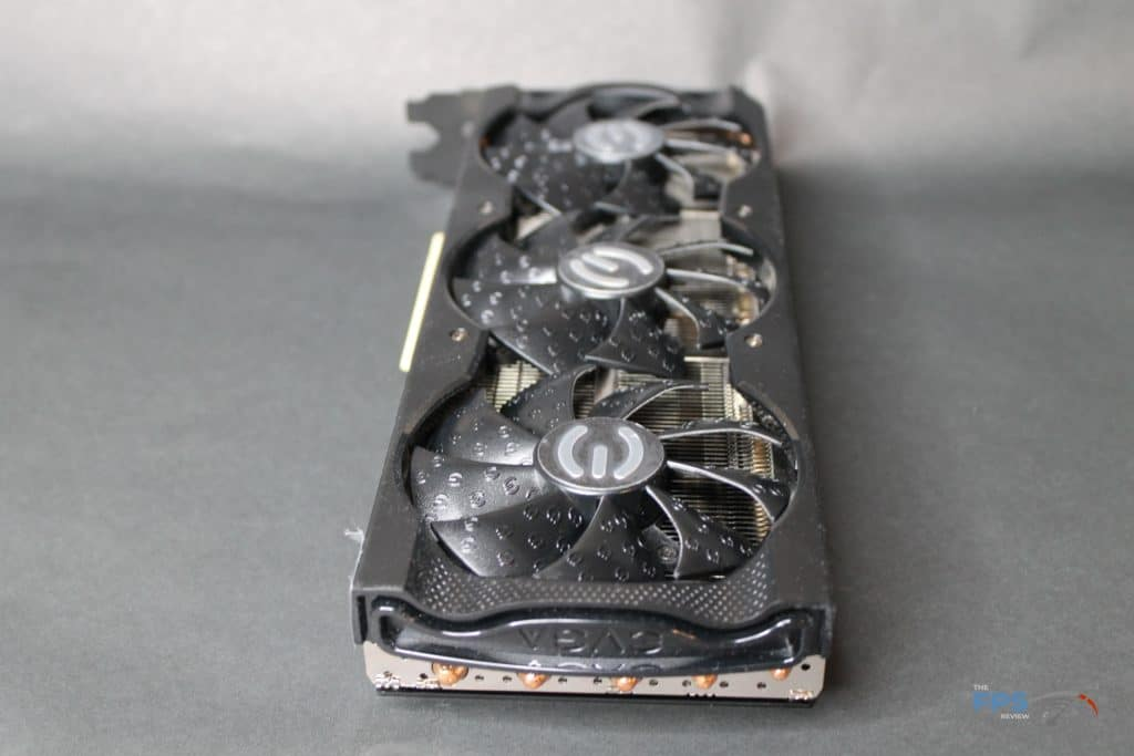 EVGA GeForce RTX 3070 XC3 ULTRA card on side back view