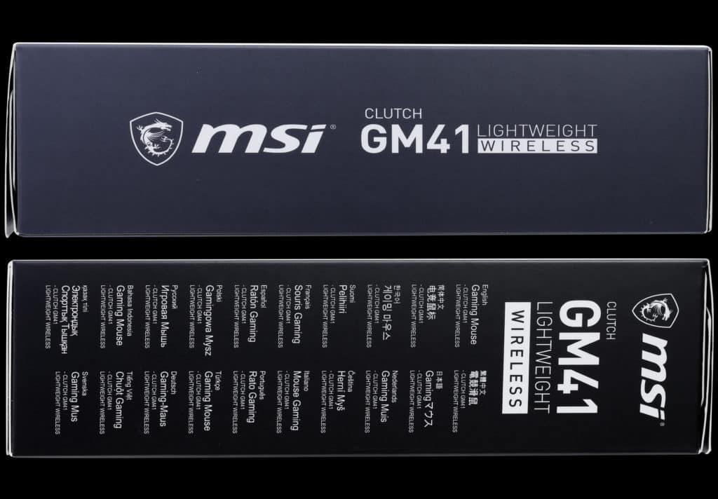 MSI CLUTCH GM41 LIGHTWEIGHT WIRELESS Box Sides Shots