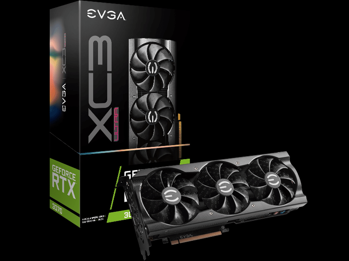 EVGA GeForce RTX 3070 XC3 ULTRA GAMING video card and box featured image