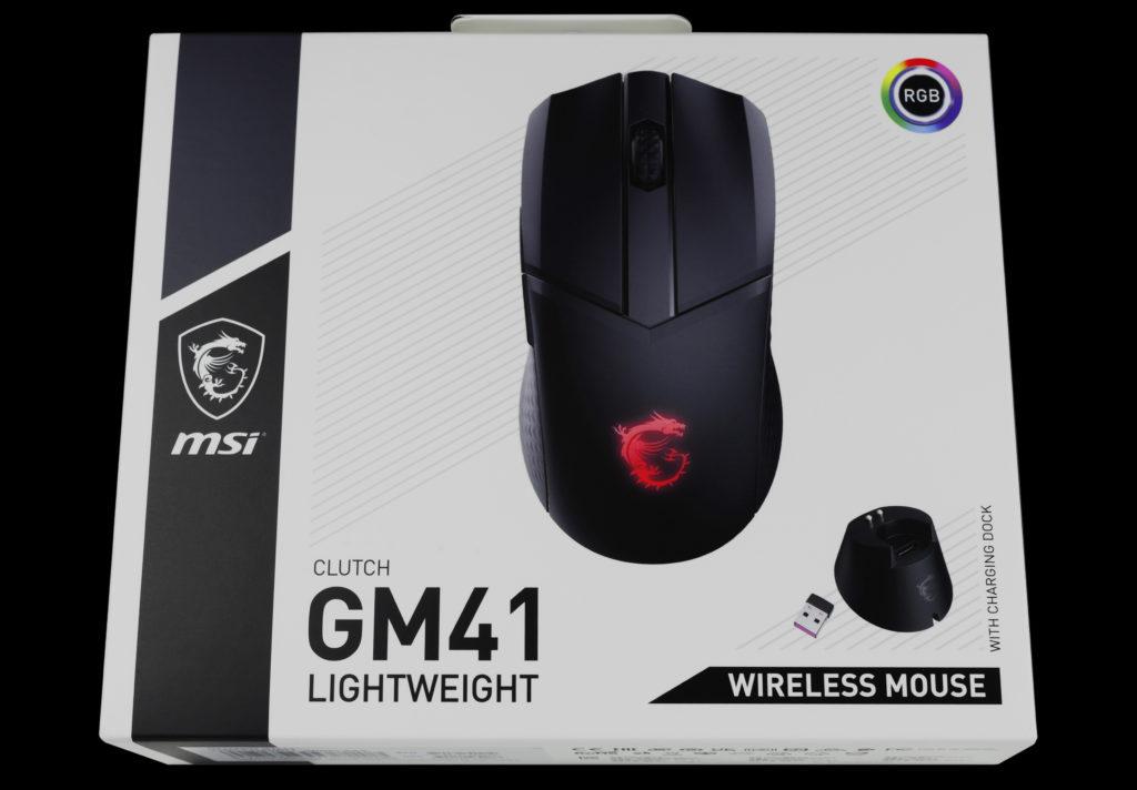 MSI CLUTCH GM41 LIGHTWEIGHT WIRELESS Front Box Shot