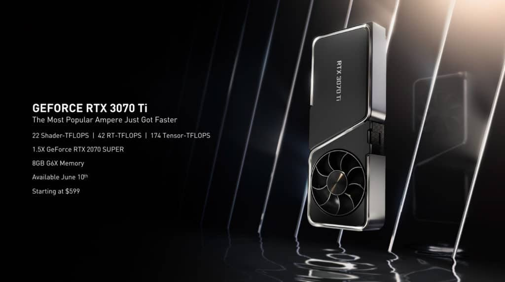 NVIDIA GeForce RTX 3070 Ti Founders Edition specification presentation slide
