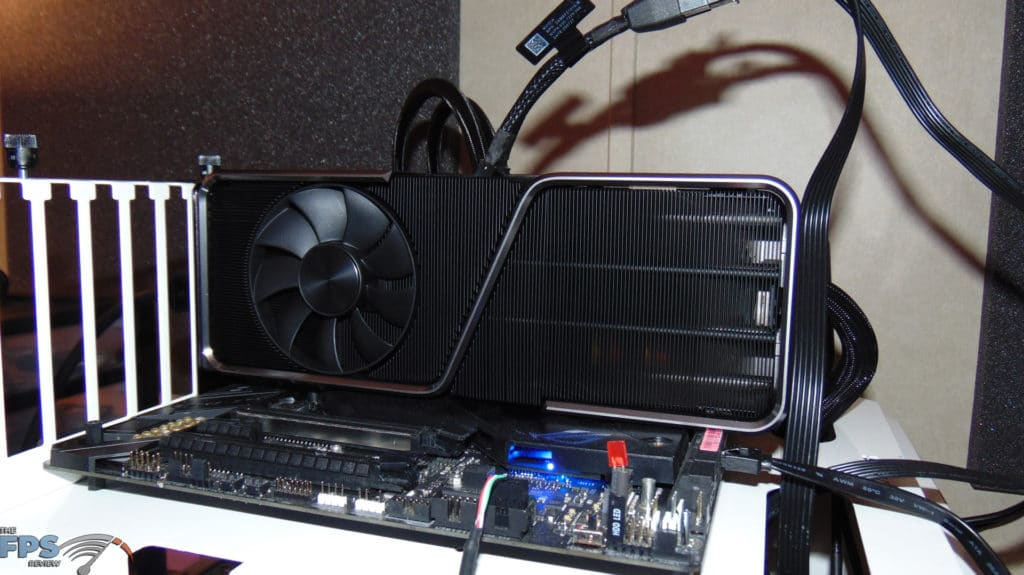 NVIDIA GeForce RTX 3070 Ti Founders Edition video card installed in computer