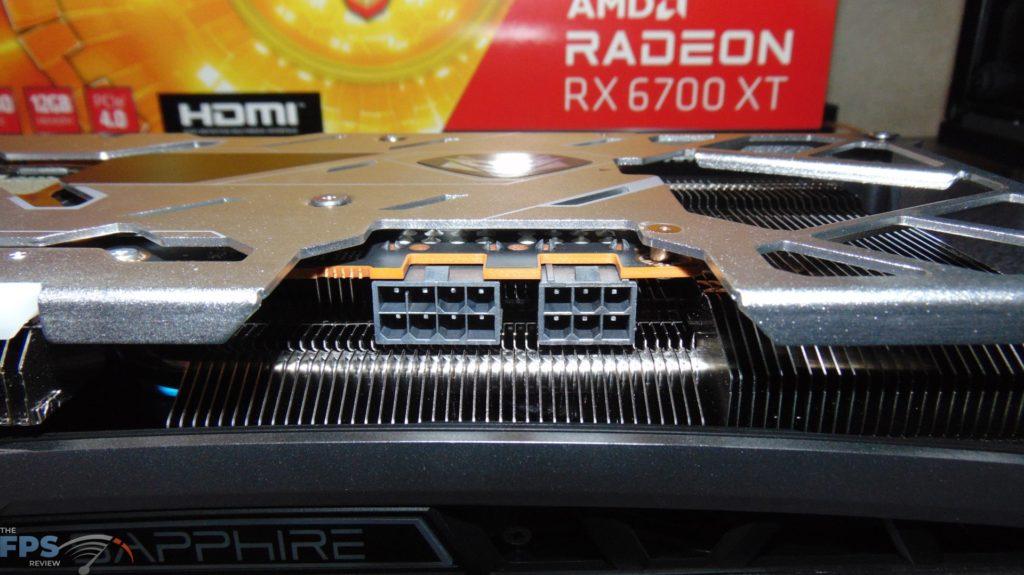 SAPPHIRE NITRO+ Radeon RX 6700 XT GAMING OC video card power connectors