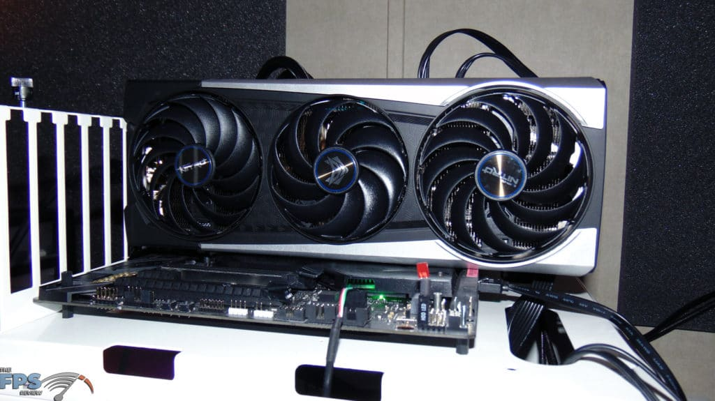 SAPPHIRE NITRO+ Radeon RX 6700 XT GAMING OC video card installed in computer front view