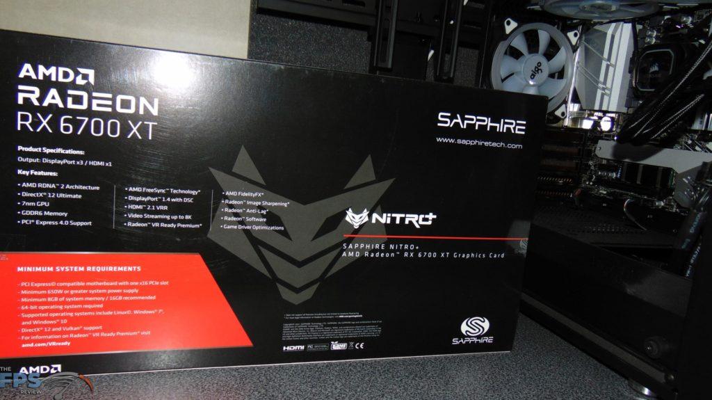 SAPPHIRE NITRO+ Radeon RX 6700 XT GAMING OC box back