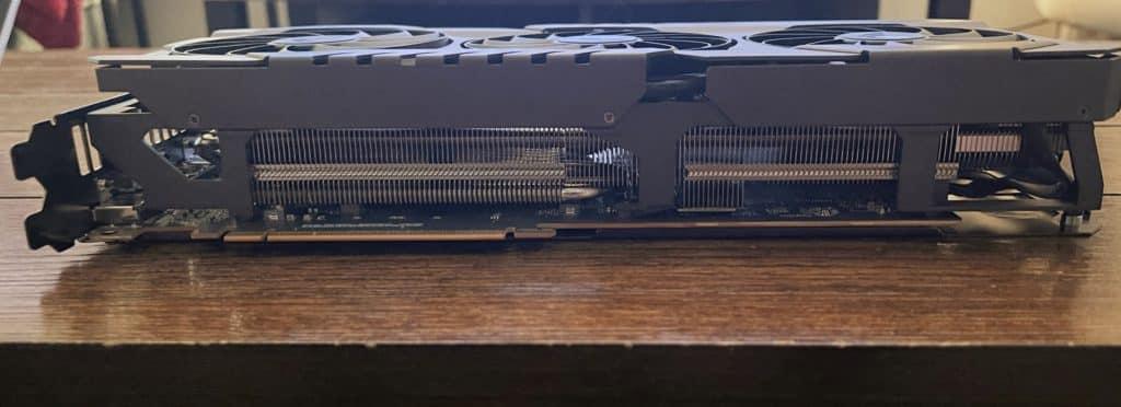 ASUS TUF Gaming Radeon™ RX 6700 XT OC Edition 2.9 inch HS/F on hard wood table