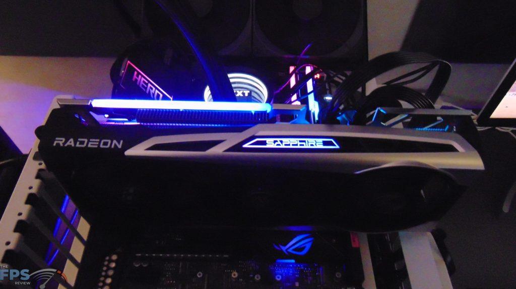 SAPPHIRE NITRO+ Radeon RX 6700 XT GAMING OC video card rgb lighting