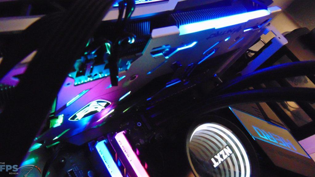 SAPPHIRE NITRO+ Radeon RX 6700 XT GAMING OC video card back side rgb lighting