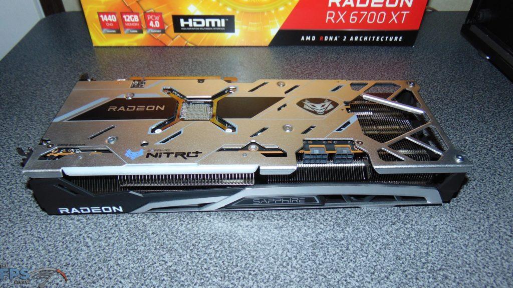 SAPPHIRE NITRO+ Radeon RX 6700 XT GAMING OC video card back side