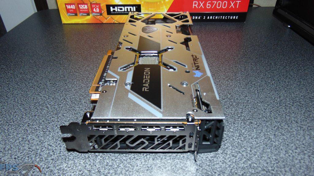 SAPPHIRE NITRO+ Radeon RX 6700 XT GAMING OC back side angled
