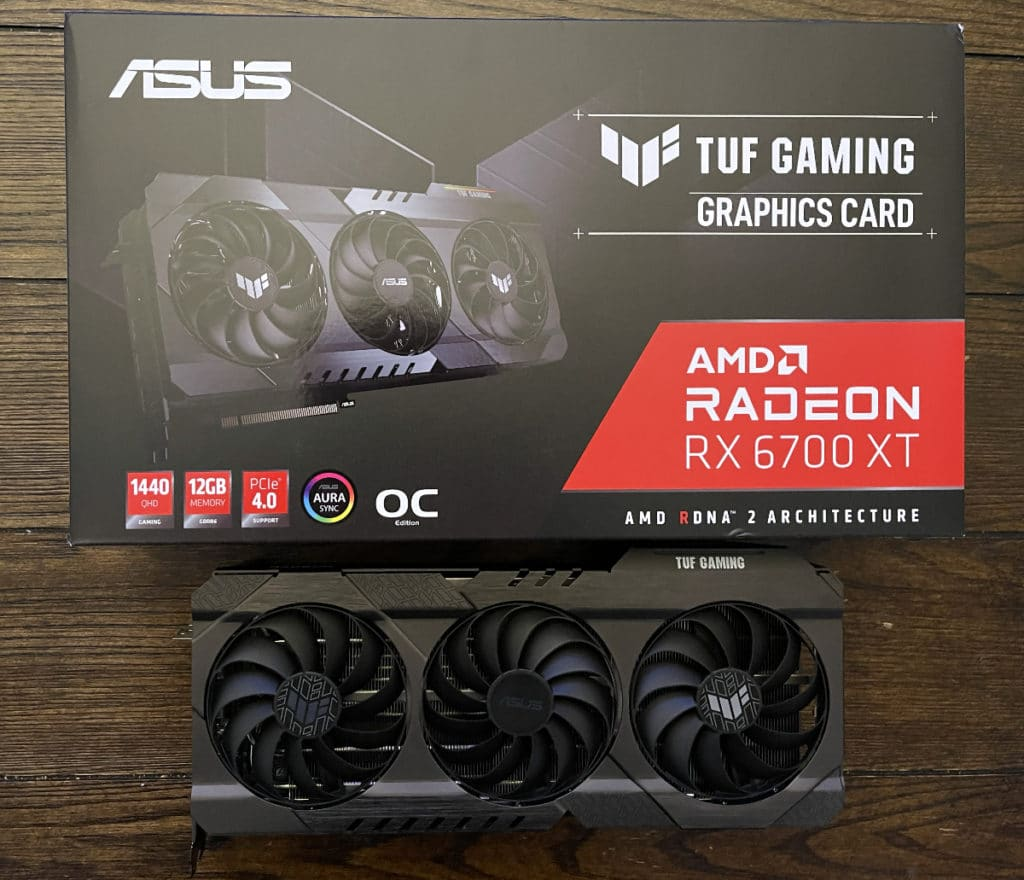 ASUS TUF Gaming Radeon™ RX 6700 XT OC Edition with Box