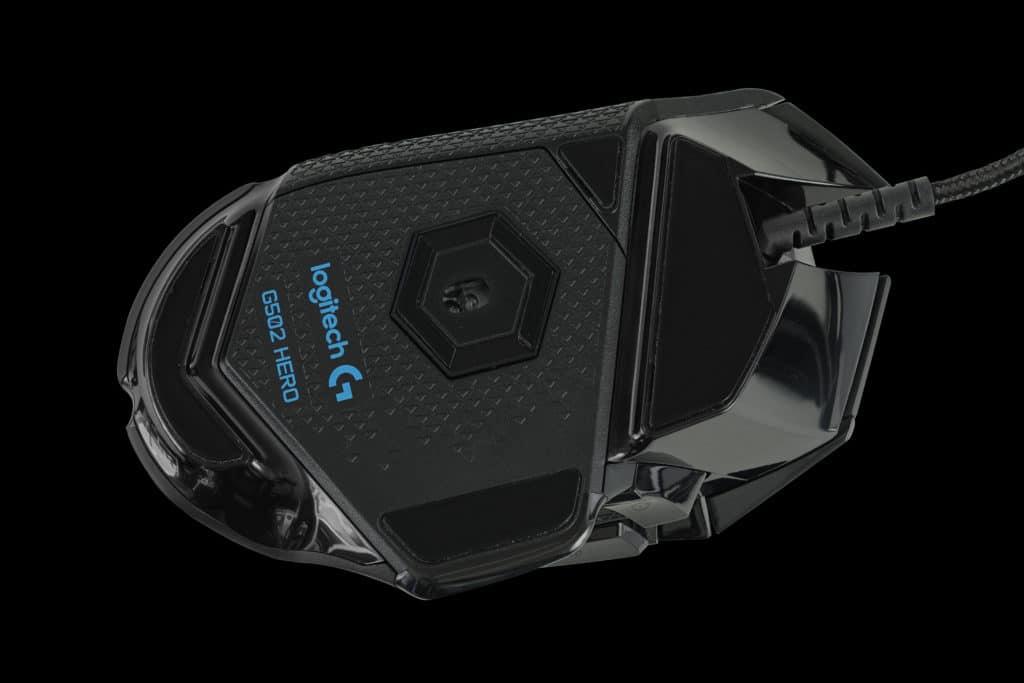 Logitech G502 HERO High Performance Gaming Mouse Bottom
