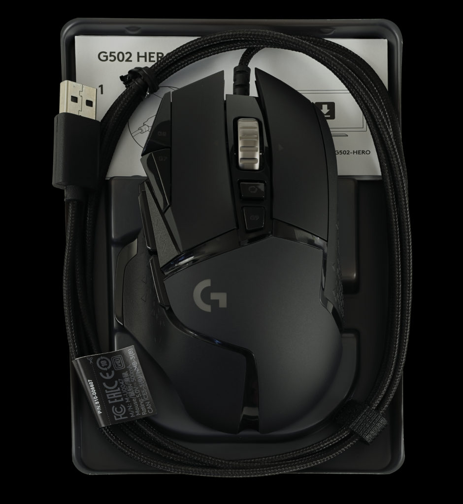 Logitech G502 HERO High Performance Gaming Mouse Mouse out of the box