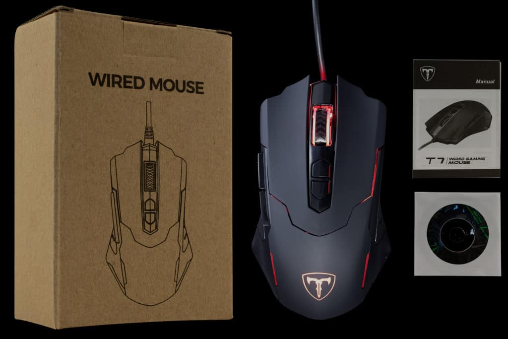 PICTEK T7 Wired Gaming Mouse Box Contents