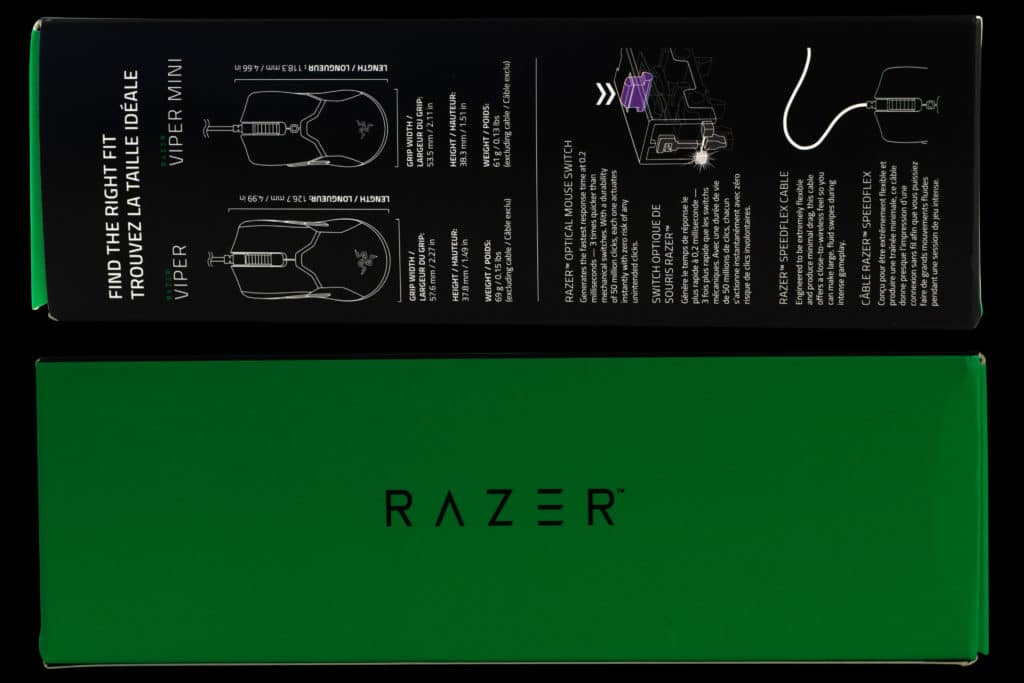 Razer Viper Mini box sides