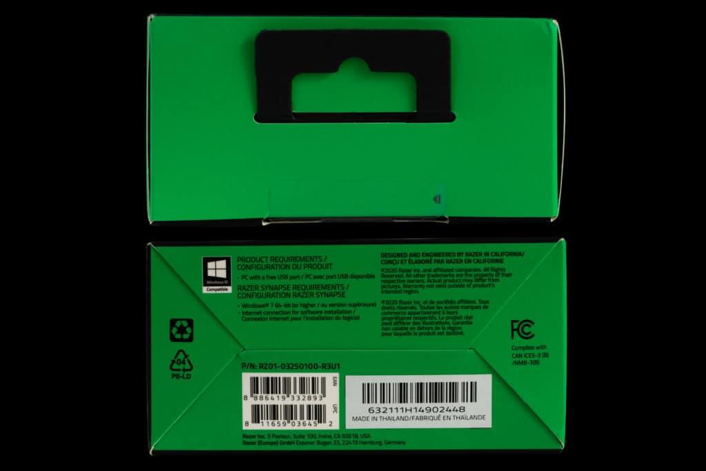 Razer Viper Mini box top and bottom