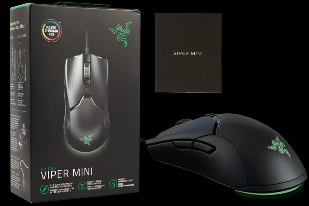 Razer Viper Mini Wired Gaming Mouse Box Contents