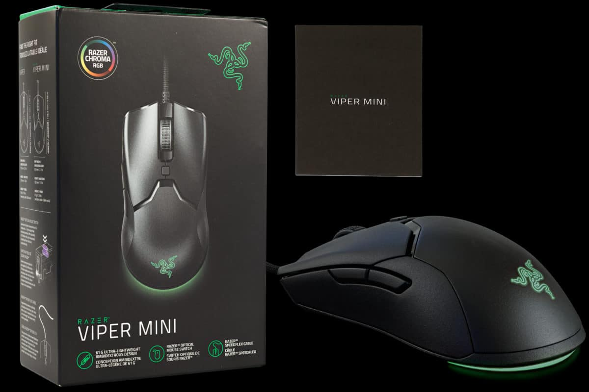Razer Viper Mini Wired Gaming Mouse and Box Featured Image