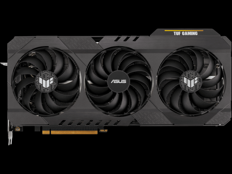 ASUS TUF Gaming Radeon RX 6700 XT OC Edition video card top view featured image