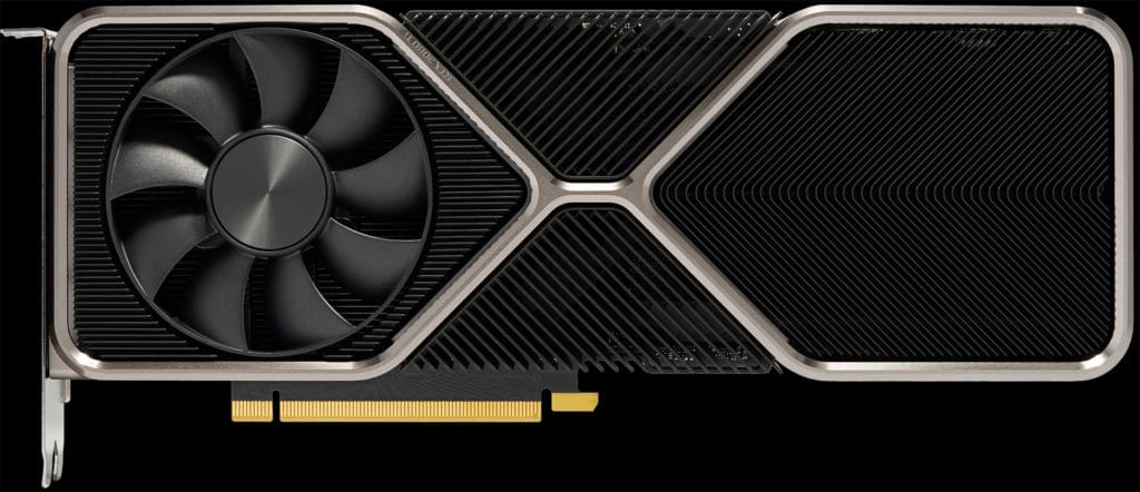 NVIDIA GeForce RTX 3080 Ti Founders Edition video card top view