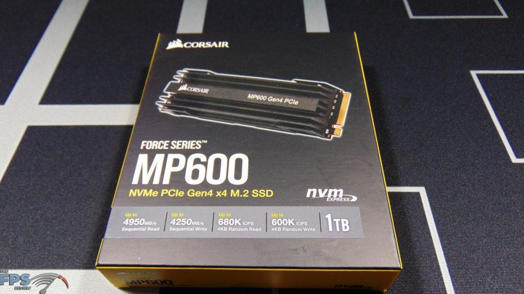 CORSAIR Force Series MP600 1TB Gen4 PCIe x4 NVMe SSD box front