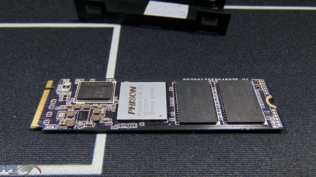 CORSAIR Force Series MP600 1TB Gen4 PCIe x4 NVMe SSD top view of bare SSD