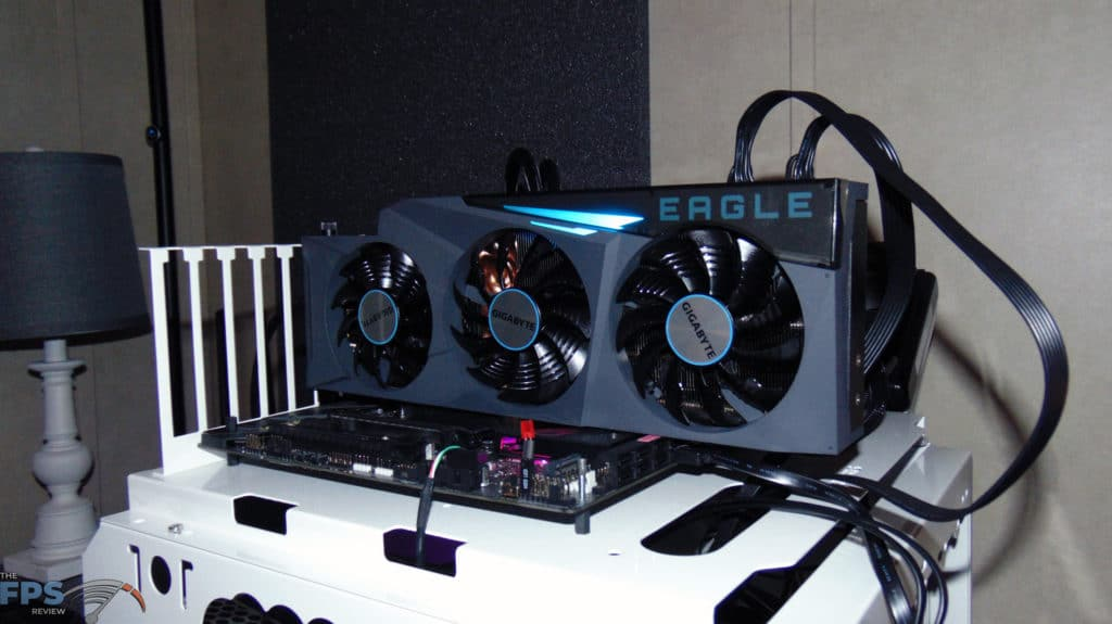 GIGABYTE GeForce RTX 3080 Ti EAGLE 12G Video Card installed in computer