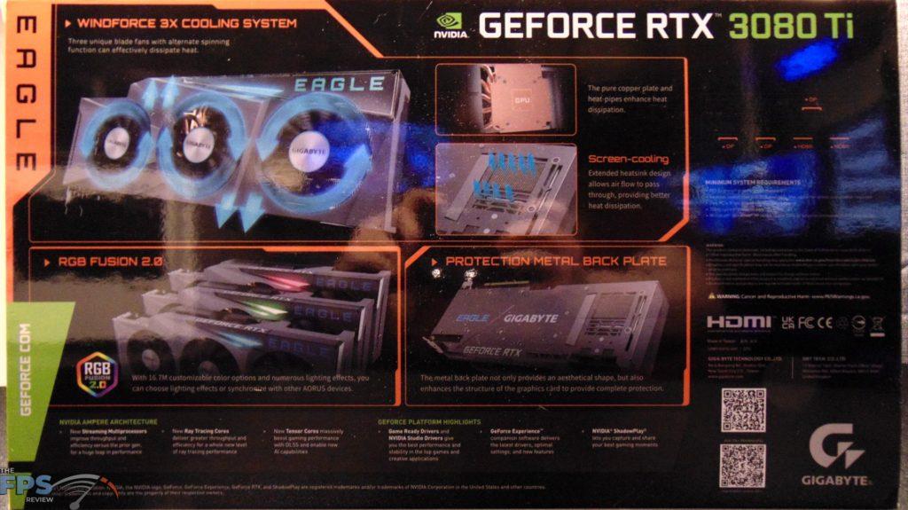 GIGABYTE GeForce RTX 3080 Ti EAGLE 12G Video Card box back