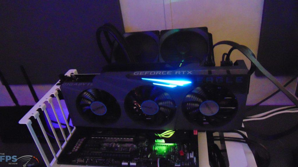 GIGABYTE GeForce RTX 3080 Ti EAGLE 12G Video Card rgb in the dark