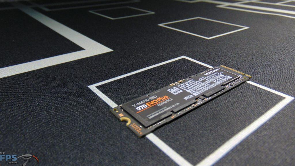 Samsung 970 EVO Plus NVMe M.2 SSD 500GB Top View Angled