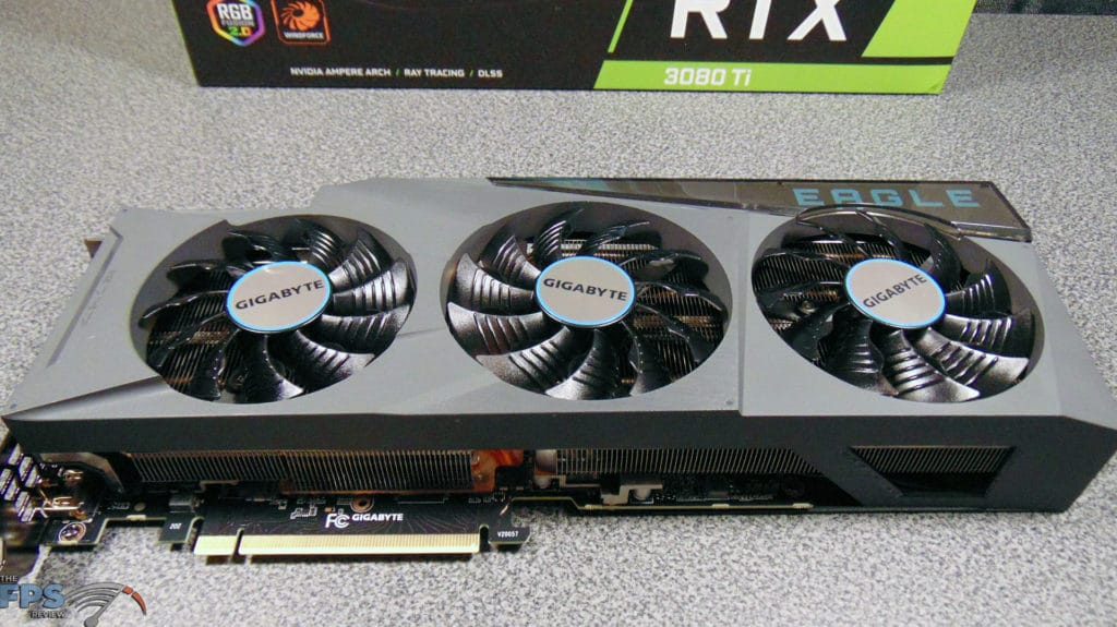 GIGABYTE GeForce RTX 3080 Ti EAGLE 12G Video Card top down view front