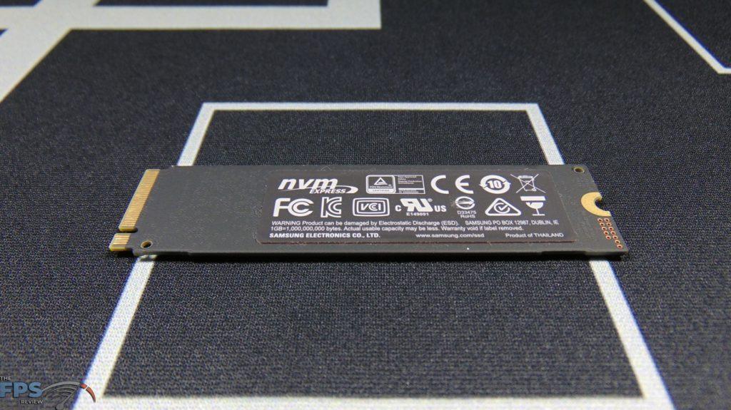 Samsung 970 EVO Plus NVMe M.2 SSD 500GB Bottom View