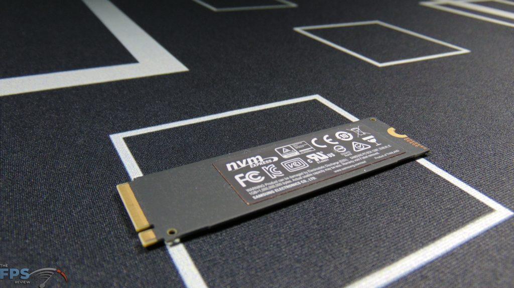 Samsung 970 EVO Plus NVMe M.2 SSD 500GB Bottom View Angled
