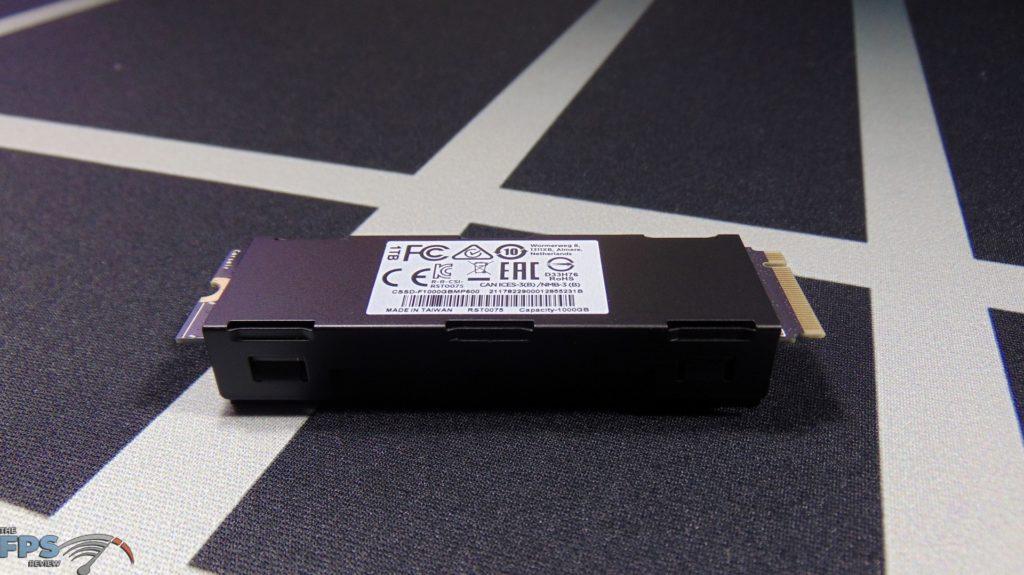 CORSAIR Force Series MP600 1TB Gen4 PCIe x4 NVMe SSD back side view