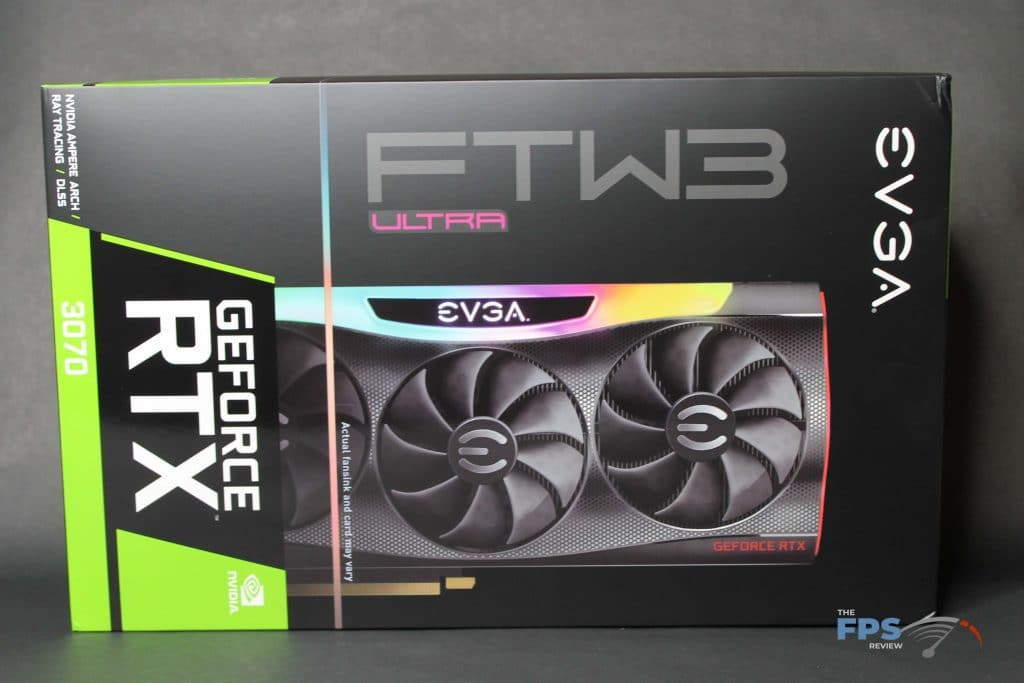 EVGA RTX 3070 FTW ULTRA GAMING Box Front View