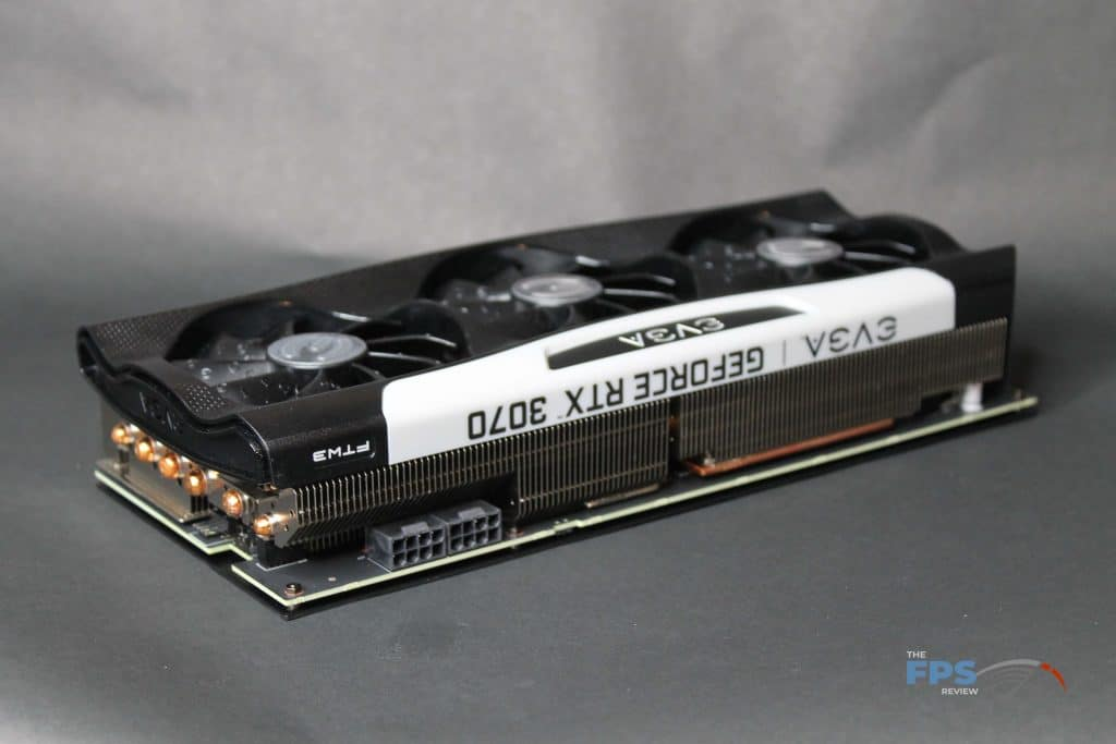 EVGA RTX 3070 FTW ULTRA GAMING top angle view