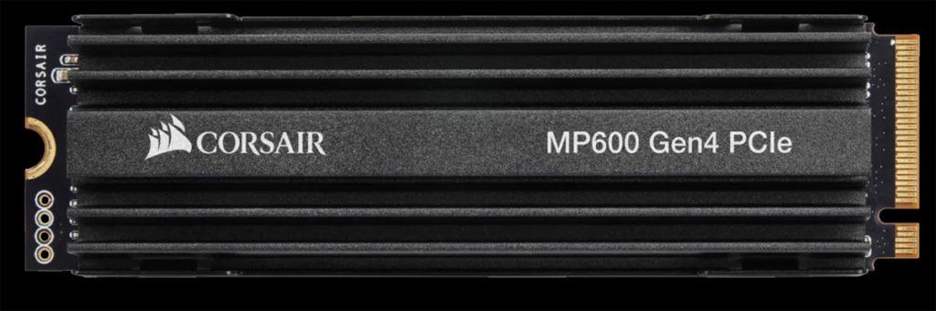 CORSAIR Force Series MP600 1TB Gen4 PCIe x4 NVMe SSD top view