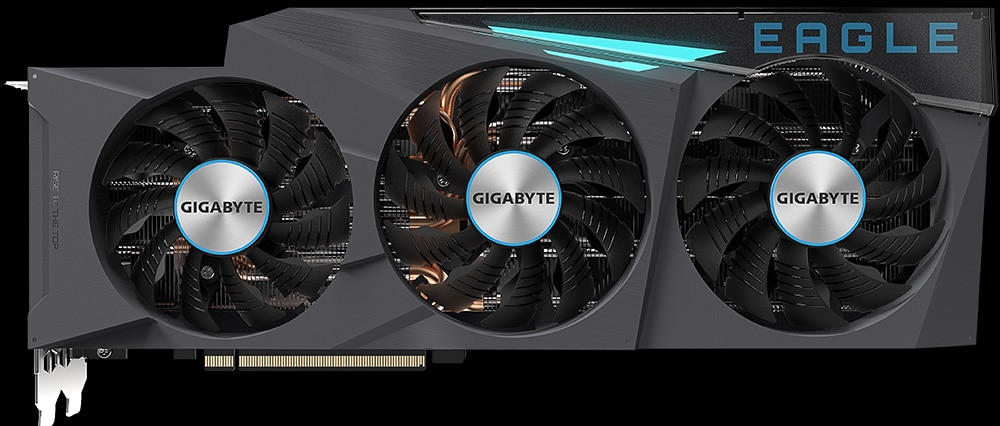 GIGABYTE GeForce RTX 3080 Ti EAGLE 12G Video Card Top View
