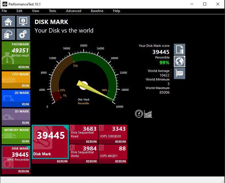 PassMark PerformanceTest Disk Bench