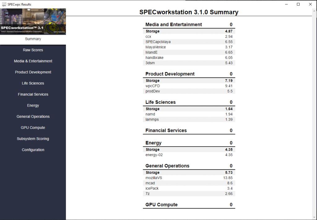 SPECworkstation 3.1