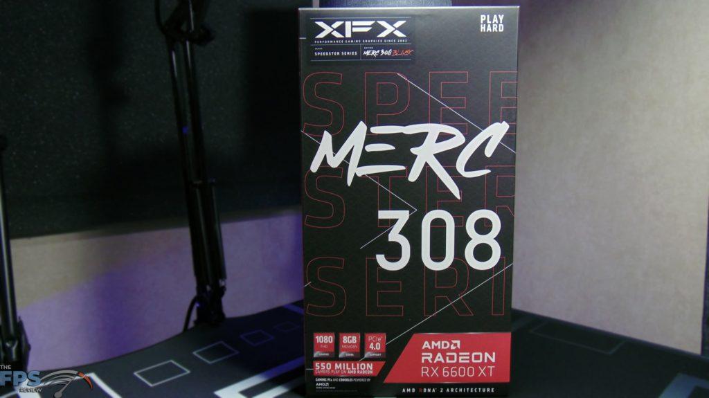 XFX SPEEDSTER MERC 308 Radeon RX 6600 XT Black Box Front