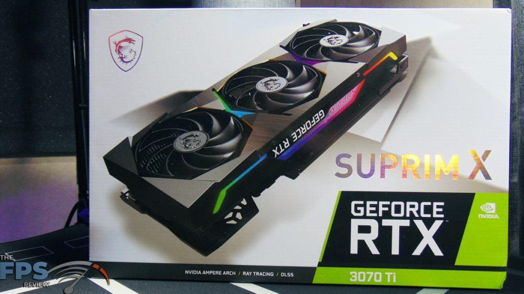 MSI GeForce RTX 3070 Ti SUPRIM X 8G Box Front