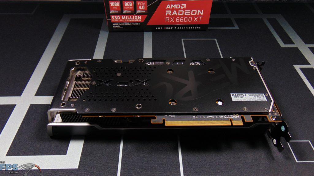 XFX SPEEDSTER MERC 308 Radeon RX 6600 XT Black Bottom View