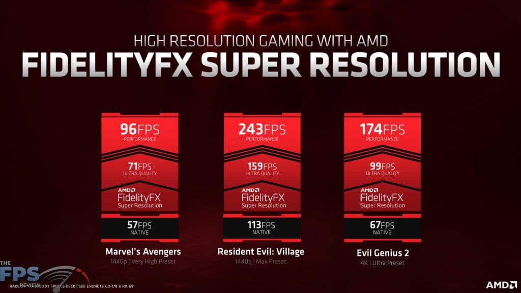 FidelityFX Super Resolution Presentation Slide