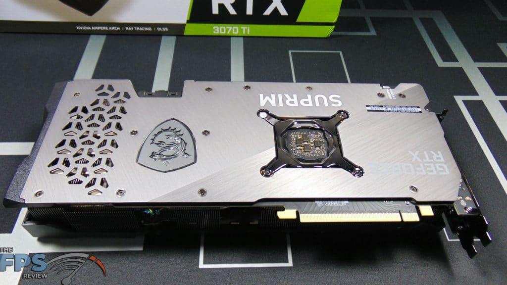 MSI GeForce RTX 3070 Ti SUPRIM X 8G Video Card Bottom View