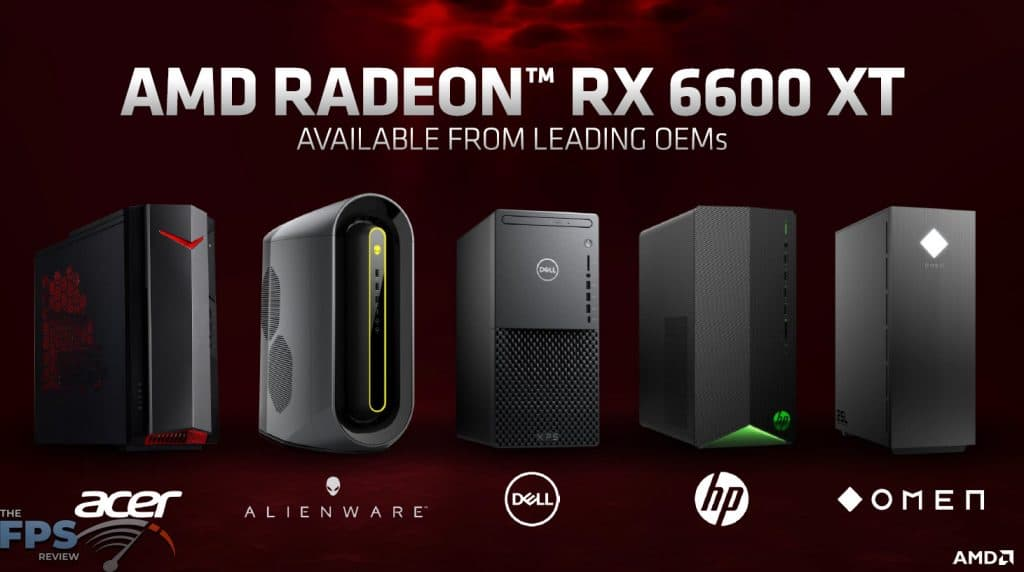AMD Radeon RX 6600 XT Available from Leading OEMs Presentation Slide