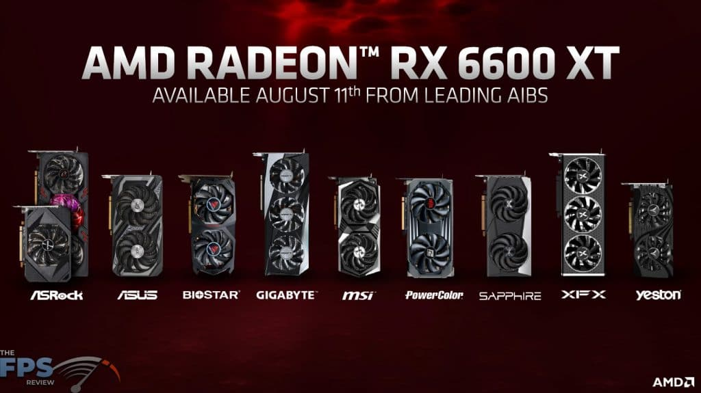 AMD Radeon RX 6600 XT Available August from AIBS Presentation Slide