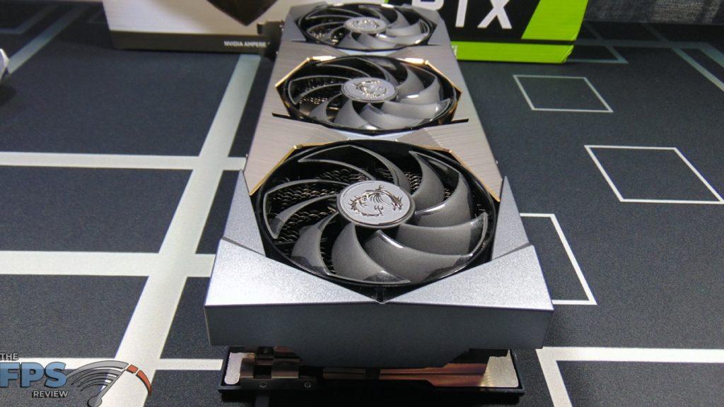 MSI GeForce RTX 3070 Ti SUPRIM X 8G Video Card Top Back View