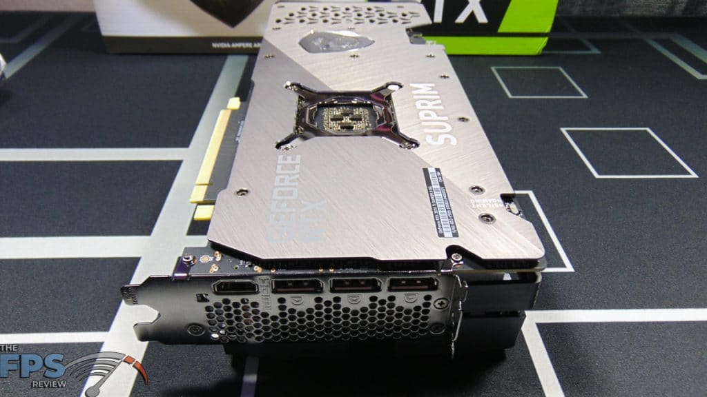 MSI GeForce RTX 3070 Ti SUPRIM X 8G Video Card Bottom Front View