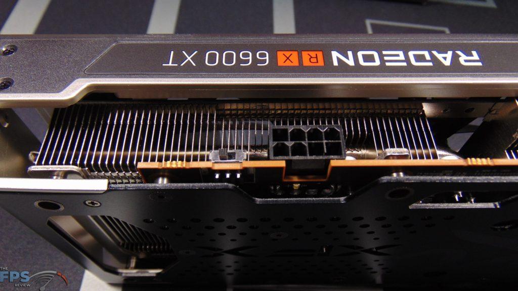 XFX SPEEDSTER MERC 308 Radeon RX 6600 XT Black PCI-Express Power Connector and BIOS Switch